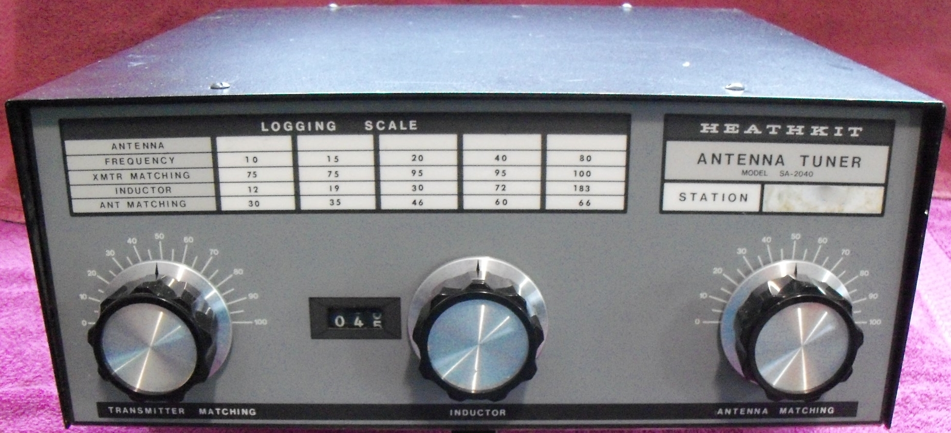 Heathkit 2040 Antenna Tuner | KL7AM